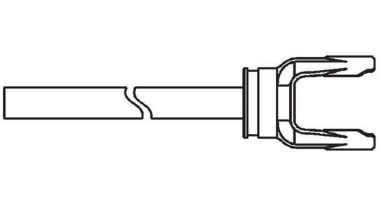 14 Series Yoke + Shaft Assembly 48 inch, 10001448