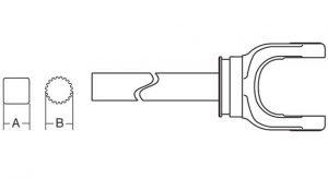 Weasler 44 Series Yoke + Shaft Assembly 48 inch, 10014448