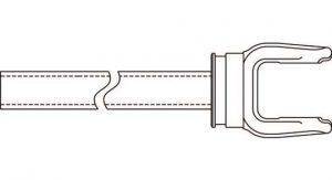 Weasler 6 Series Yoke + Tube Assembly 48 inch, 11000648