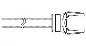 Weasler 12 Series Yoke + Tube Assembly 48 inch, 11001248
