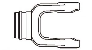 PTO Tube Weld Yoke Domestic 35 Series Fits 2-1/4 inch Round Tube, 7033500