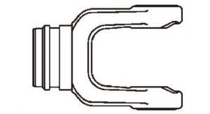 PTO Tube Weld Yoke Domestic 35 Series Fits 2-1/8 inch Round Tube, 7053500