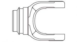 PTO Tube Weld Yoke Domestic 44 Series Fits 2-1/2 inch Round Tube, 7014400