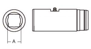 PTO Slip Sleeve Domestic 12 Series 1 inch x 1-1/8 inch Rectangular Bore, 5001400