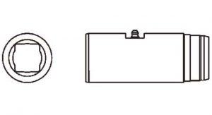 PTO Slip Sleeve Domestic 14 Series 1 inch x 1-1/8 inch Rectangular Bore, 5001400