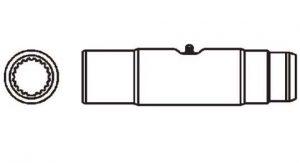 PTO Slip Sleeve Domestic 14 Series 1-5/16 inch - 20 Spline Bore, 5011400