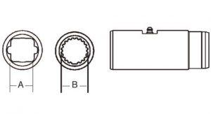 PTO Slip Sleeve Domestic 35 Series 1-11/16 inch - 20 Spline Bore, 5053500