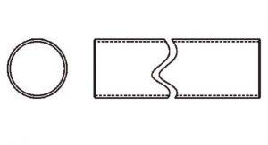 Weasler PTO Tube Domestic 14 Series 2 inch Round, 6021400