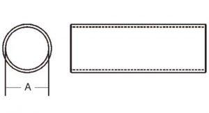 Weasler PTO Tube Domestic 35 Series 2-1/8 inch Round, 6023500