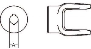 Implement Yoke 6 Series Round Bore Double Keyway Yoke 1-1/4 inch, 8060620