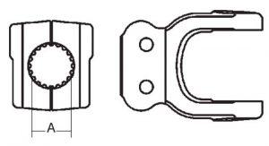 Implement Yoke Domestic 44 Series Clamp Yoke 1-3/4 inch - 20 Spline, 8074420