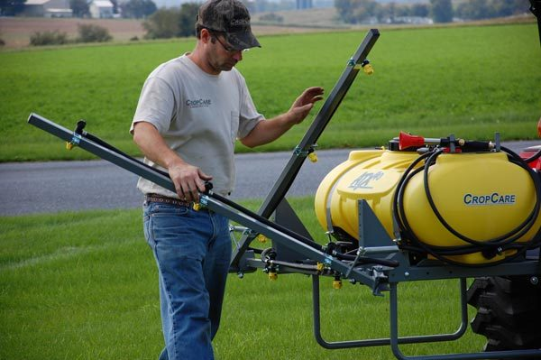 ATX sprayer - 3pt mounting kit shown with 12 foot boom