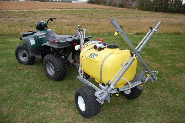 winterize, ATX sprayer - trailer kit with 12 foot boom, 60 gallon tank shown