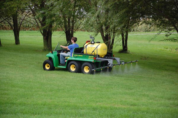 ATX sprayer - skid kit with 12 foot boom, 60 gallon tank shown