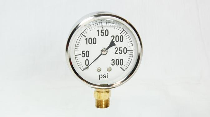 300psi Glycerin Filled Gauge 2 1 2 Face 1 4 Mpt Bottom Mount on Liquid Filled Pressure Gauge