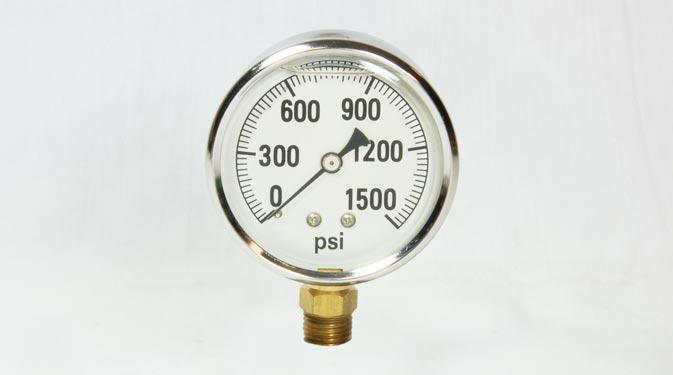 1 500psi Glycerin Filled Gauge 2 1 2 Face 1 4 Mpt Bottom Mount on Liquid Filled Pressure Gauge