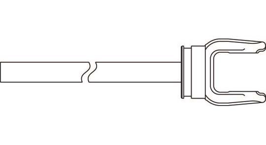 6 Series Yoke + Shaft Assembly 48 inch, 10000648