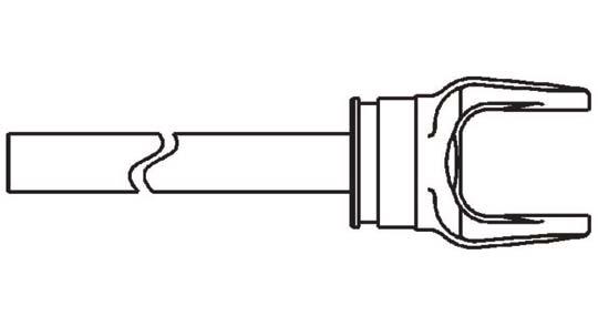 Weasler 12 Series Yoke Shaft Assembly For 60 Driveline