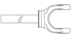 Weasler 55 Series Yoke + Shaft Assembly 48 inch, 10005548