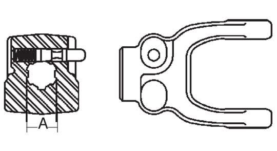 Weasler Tractor Yoke 55 Series Push Pin 1 3 4 6 Spline