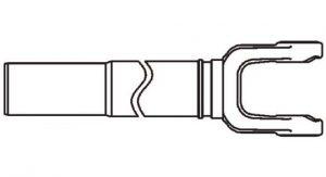 Weasler 35 Series Yoke + Tube + Sleeve Assembly 48 inch, 11003548