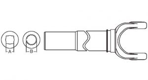 Weasler 55 Series Yoke + Tube + Sleeve Assembly 48 inch, 11005548