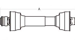 Weasler Driveline 12 Series 1-3/8 6 Spline Tractor Yoke 48 inch, 14001248