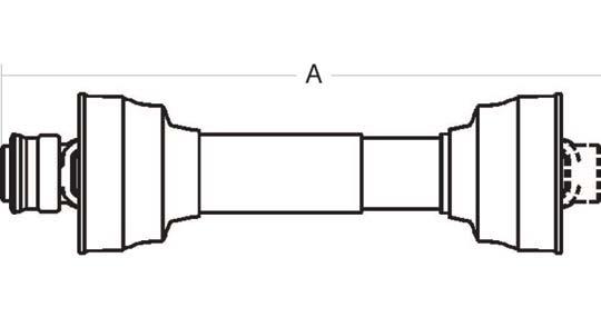 Tractor Pto Shaft Dimensions : Weasler driveline shaft series quot spline tractor