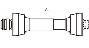 Weasler Driveline 12 Series 1-3/8 6 Spline Tractor Yoke 60 inch, 14001260