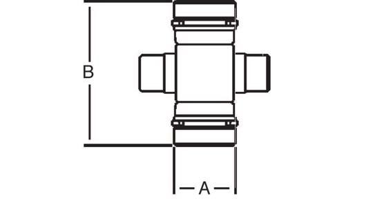 Weasler PTO Cross and Bearing Kit North American #12 Series, 2001200