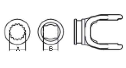 Weasler PTO Shaft Weld Yoke Domestic 6 Series, 3000600