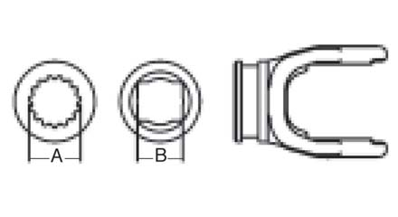 Weasler PTO Shaft Weld Yoke Domestic 6 Series, 3020600
