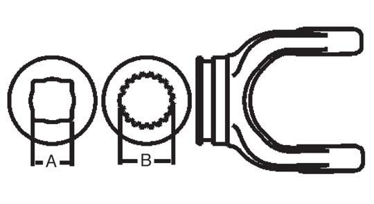 Weasler PTO Shaft Weld Yoke Domestic 55 Series, 3005500
