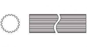 Weasler PTO Shaft Domestic 44 Series 1-5/16 inch - 20 Spline, 4042120