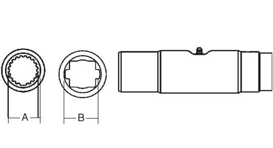 PTO Slip Sleeve Domestic 55 Series 1-5/16 inch Square Bore, 5043500