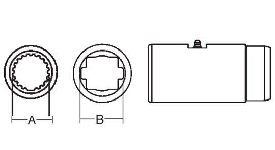 PTO Slip Sleeve Domestic 55 Series 1-11/16 inch - 20 Spline Bore, 5053500