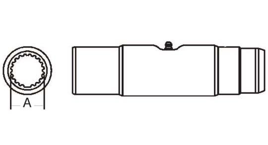PTO Slip Sleeve Domestic 55 Series 1-11/16 inch - 20 Spline Bore, 5033500