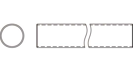 Weasler PTO Tube Domestic 6 Series 1-1/2 inch Round, 6020600
