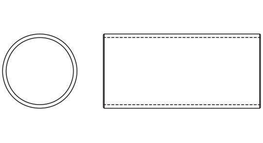Weasler PTO Tube Domestic 44 Series 2-1/2 inch Round, 6024400