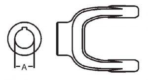 PTO Implement Yoke Domestic 55 Series 1-5/8 inch Round Bore, 8005526