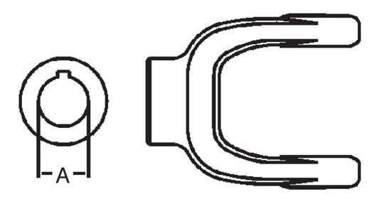 Weasler Pto Implement Yoke Domestic 55 Series 1 5 8