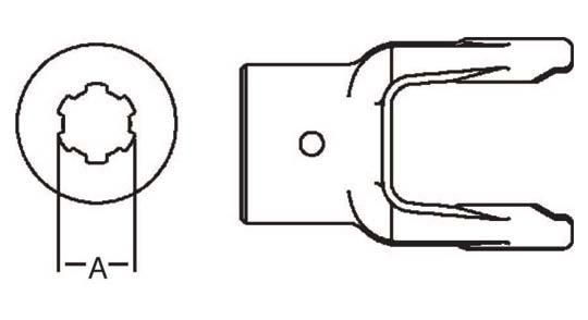 Weasler Pto Implement Yoke Domestic 14 Series 1 1 4 6