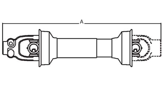 Tractor Pto Shaft Dimensions : Weasler pto driveline shaft series quot spline