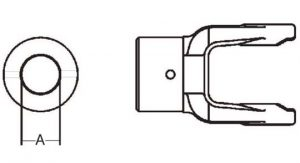 PTO Implement Yoke Domestic 14 Series Shear Pin Yoke 1-1/4 inch, 8021420