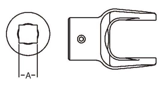 PTO Implement Yoke Domestic 12 Series Square Bore Yoke 1-1/4 inch, 8041220