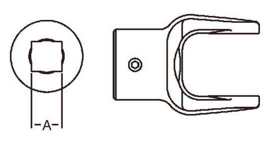 PTO Implement Yoke Domestic 12 Series Square Bore Yoke 7/8 inch, 8041214