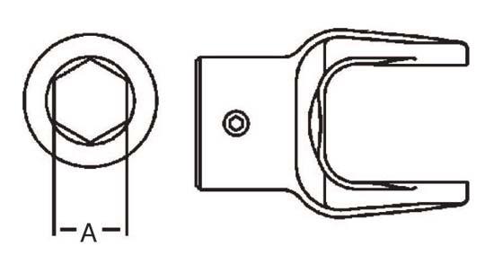 PTO Implement Yoke Domestic 12 Series Hex Bore Yoke 1-1/8 inch, 8051218