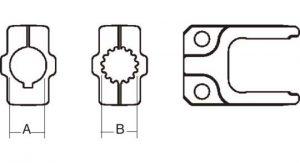 Implement Yoke Domestic 6 Series Clamp Yoke 1 inch - 15 Spline, 8070615