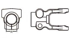 Implement Yoke Domestic 35 Series Clamp Yoke 1-3/8 inch - 21 Spline, 8073521