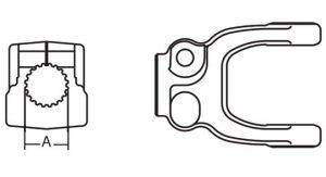 Implement Yoke Domestic 55 Series Clamp Yoke 1-3/4 inch 27 Spline, 8075527